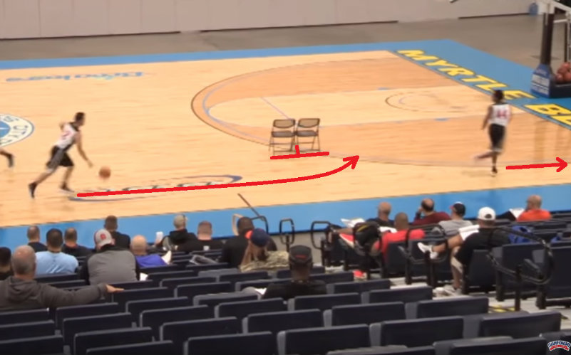First play: Ball handler drive to the screen and the other player lean to the corner