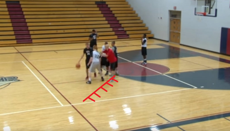 Chase the ball handler on the pick and roll defense