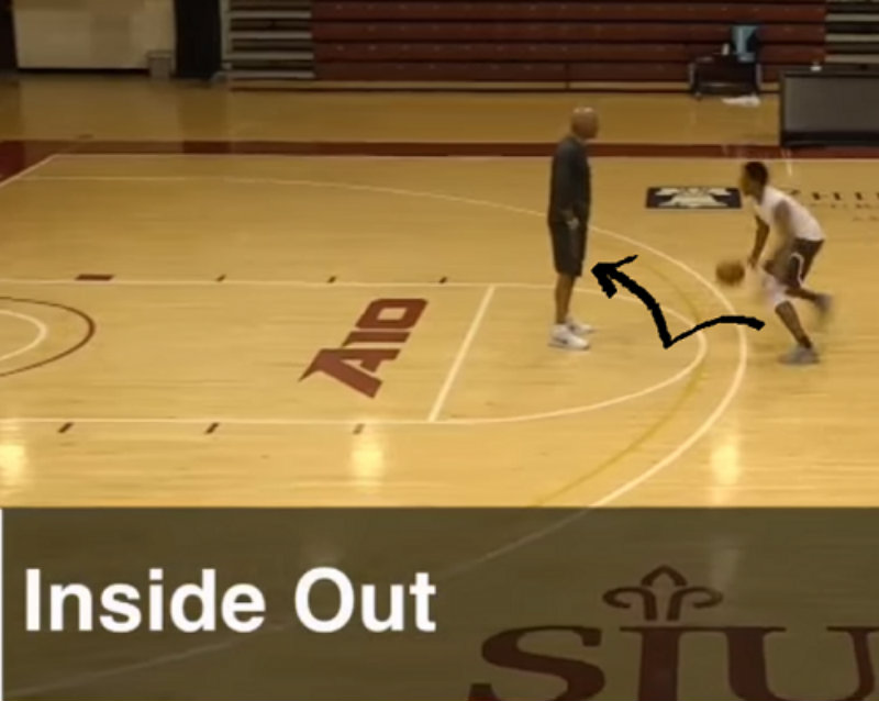 Inside out dribble