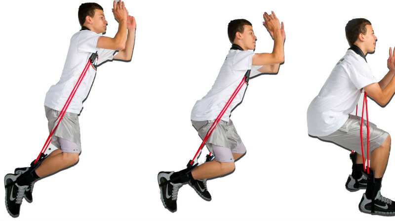 Resistance bands to increase vertical jump