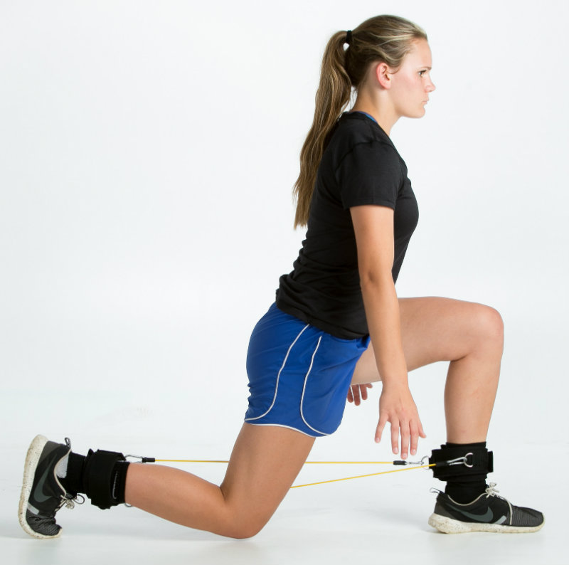 Lateral resistance bands for basketball