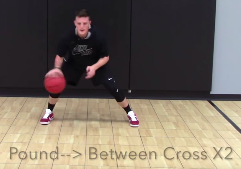 dribbling drills basketball between the legs